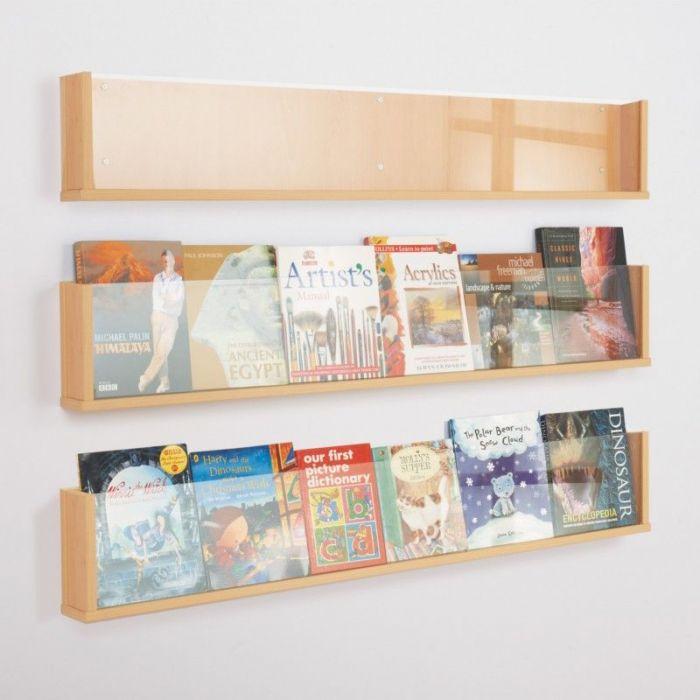Wooden Shelf Leaflet Holders Office Reality