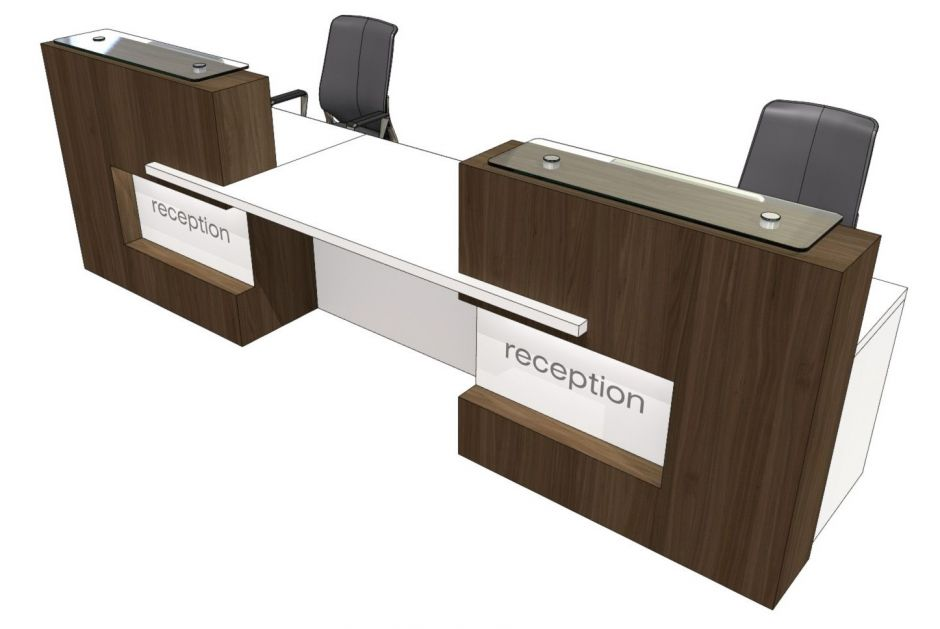 Two person straight reception desk evo xpression Desk for two persons