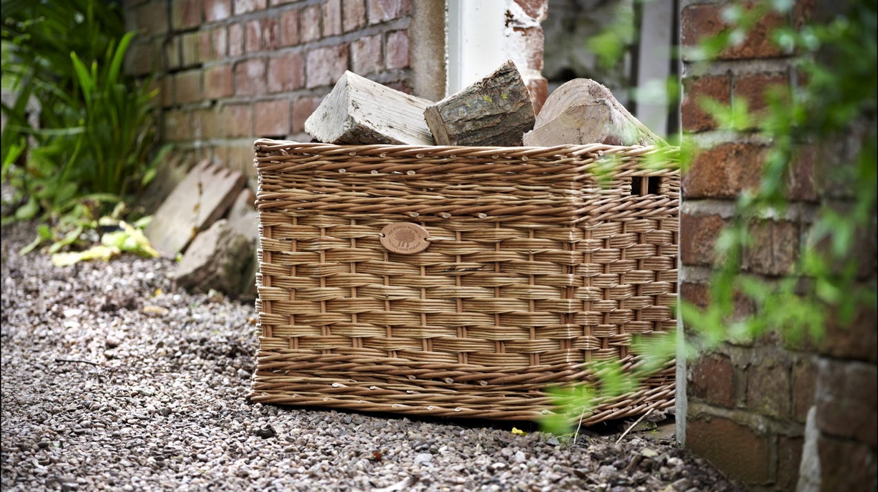 Square, Luxury Willow Baskets For Logs