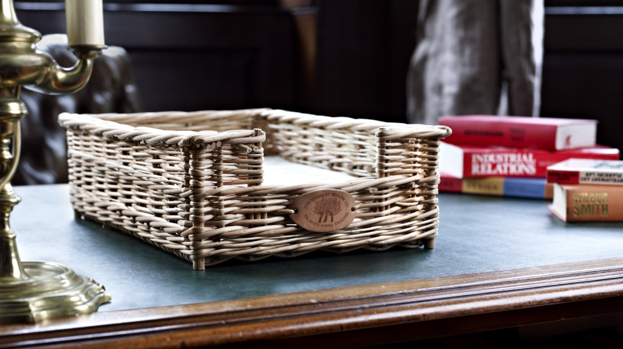 Wicker Basket Filing Tray