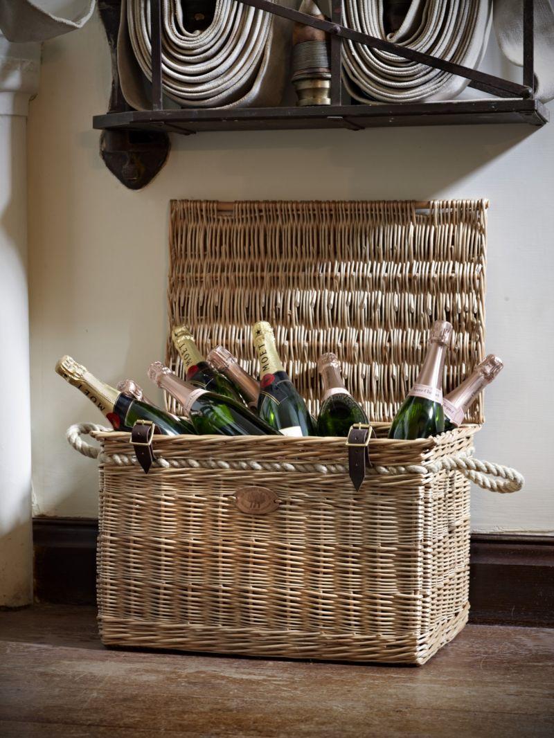 Willow Basket Weaving Somerset : Willow storage basket products somerset england