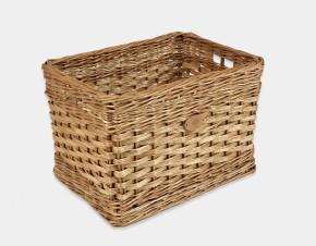 Rectangular Log Basket With Finger Holes