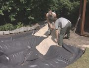 fitting a stone liner