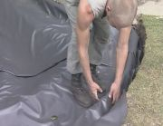 fitting a pond liner