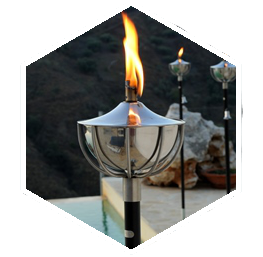 Outdoor Oil Torches on Stakes