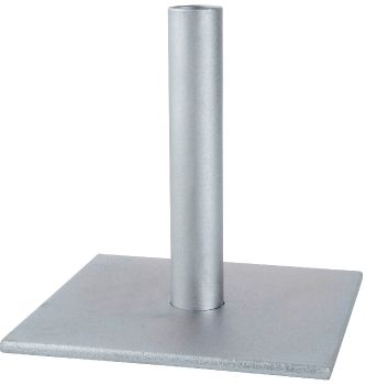 Square Metal Base for 3cm Oil Torch Stake
