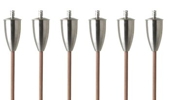 Athens Oil torch (Set of 6) - Brushed Steel