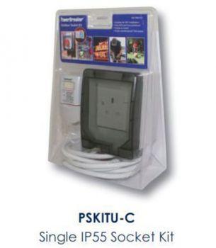 Single 13A Outdoor Socket Kit