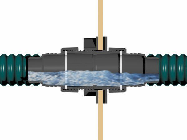 Tradux wall liner transition oase fittings water