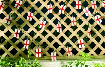England Flag Solar String Lights