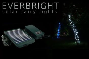 Solar Fairy Lights - 28 Metre (280 White LEDs)