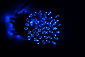Solar Fairy Lights - 10 Metre (100 Blue LEDs)