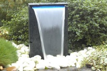 Sorrono Water Cascade with Blue LED Lighting