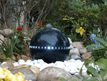 36cm Terrazzo Water Sphere with LED Lights