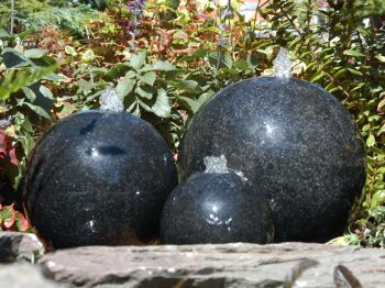 Terrazzo Triple Sphere Feature with LED Lights