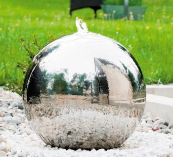 Stainless Steel Sphere Water Feature - 600mm