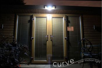 Curve Solar Motion Detecting Light