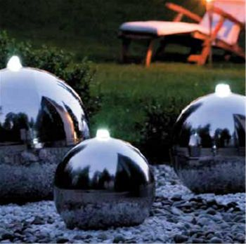 Stainless Steel Sphere Water Feature - 1500mm