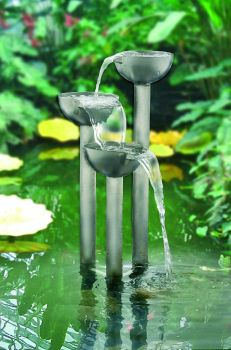 The Tay - brushed finish with lights - 60cm tall