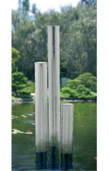 Tigris Polished Steel Water Feature 102mmØ x 1150mm