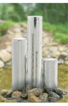 Tigris Polished Steel Water Feature 127mmØ x 750mm