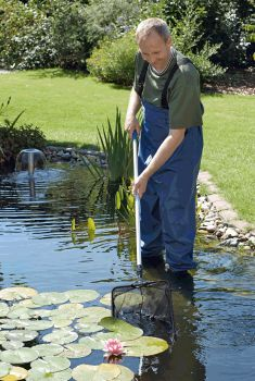 Profi fish net pond maintenance tools water garden uk for Garden pond cleaning nets