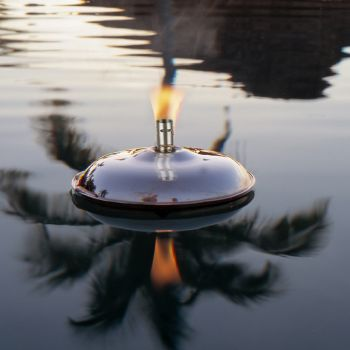 Venice Floating Oil Lamp - Polished Steel