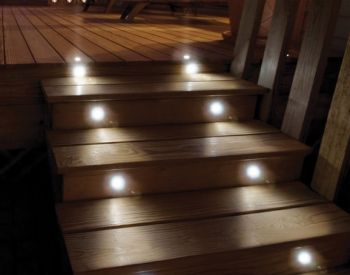 Stainless Steel Solar LED Deck Lights (Set of 8)