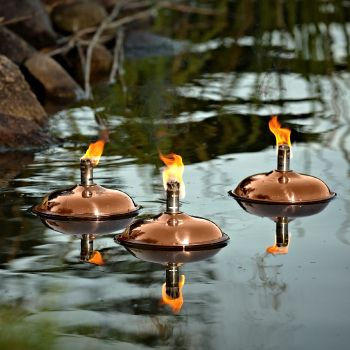 Venice Floating Oil Lamp - Polished Copper