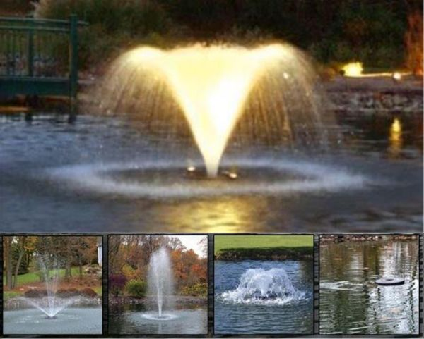 5 in 1 floating aerator with lights otterbine water Water pumps for ponds and fountains