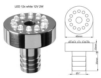 Bubble Jet Fountain Light - 12 LED Warm White - 2w
