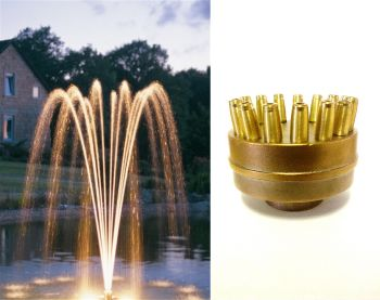 Single Tier Fountain Nozzle - 15 High Flow Jets