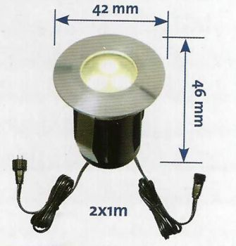 42mm Deck Light (Cold White) - 0.5w