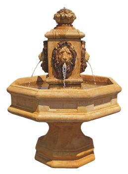 Classic Lion Real Stone Fountain