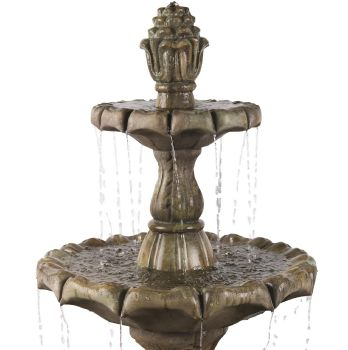 Classical Finial 3 Tier Real Stone Fountain