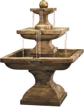 Tall Equinox Real Stone Fountain