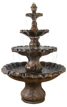 Classical Finial 4 Tier Real Stone Fountain