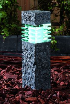 Granite Effect LED Pillar Light 40cm – 2w