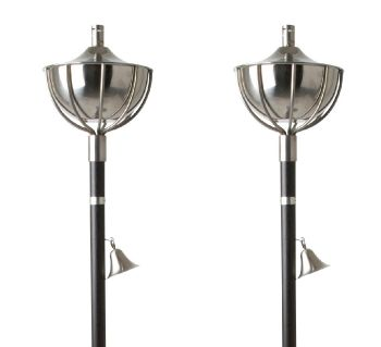 Roma Torch - Steel with Blackwood Stake (Set of 2)