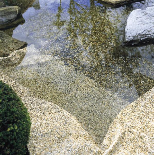 Oase pond stone liners sand granite grey water garden uk for Water garden pond liners