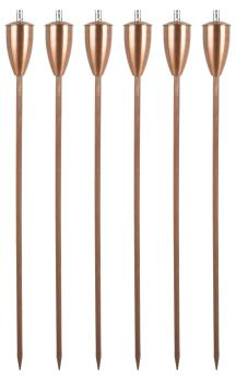 Athens Oil torches - Copper (Set of 6)