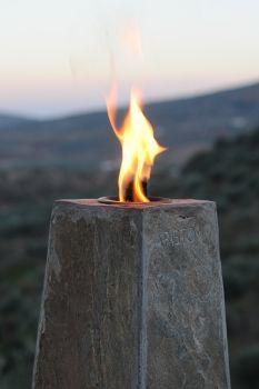 Chicago Oil Burner - 30cm Silver Stone