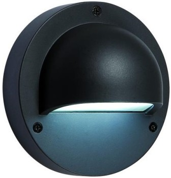 Anthracite LED Downlighter (Cold White) - 1w