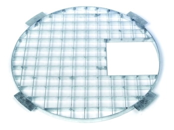 81cm Circular Steel Grid and Access Hatch