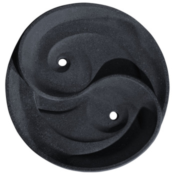 Harmony Radial Water Sculpture - Black
