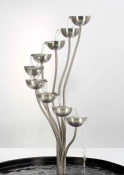 The Spey - Brushed Steel Water Feature - 110cm tall