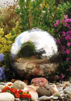 Stainless Steel Sphere Water Feature - 300mm