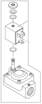 "Solenoid valve 1/2"" ProfiClear Guard"