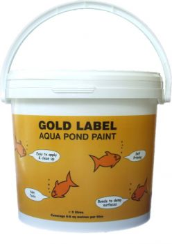 Gold label pond paints pond construction for Koi pond sealer